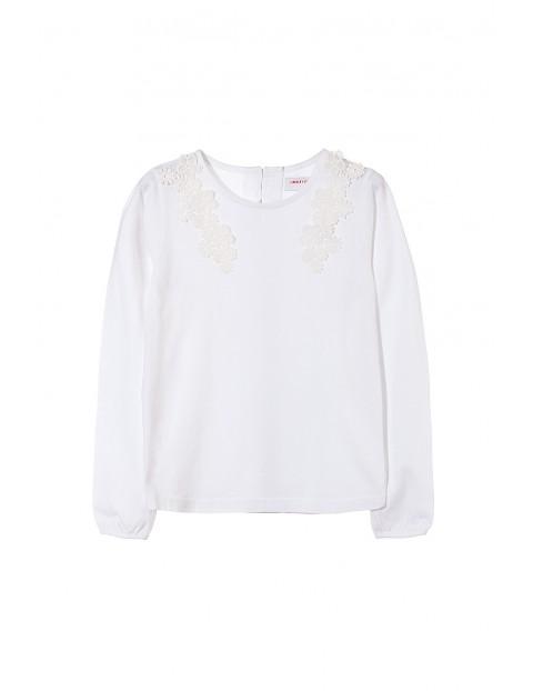 Bluzka dziewczęca biała 4H3533