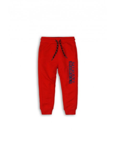 Spodnie chłopięce dresowe  - czerwone