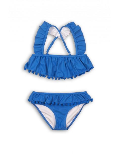 Dwuczęściowy strój kąpielowy - niebieski