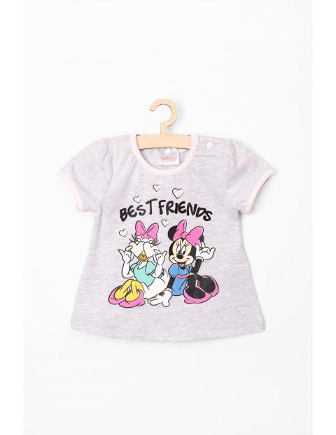 T-Shirt niemowlęcy Myszka Minnie szary