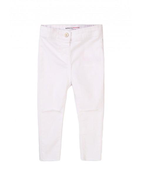 Spodnie dziewczęce w kolorze białym