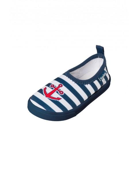 Buty kąpielowe filtr UV 50+ w marynarskie paski