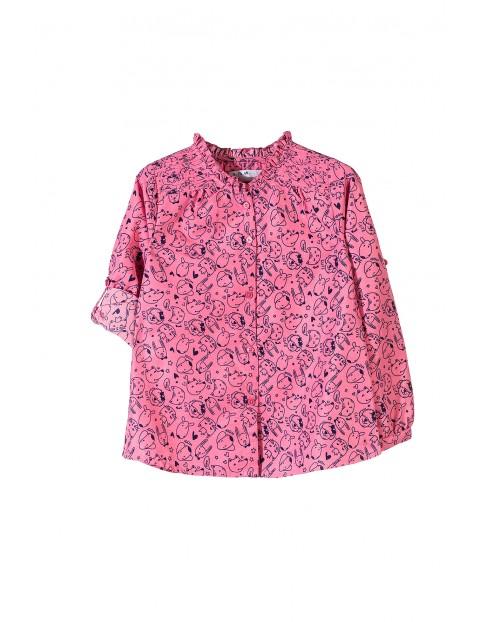 Koszula dziewczęca długi rękaw 3J3405