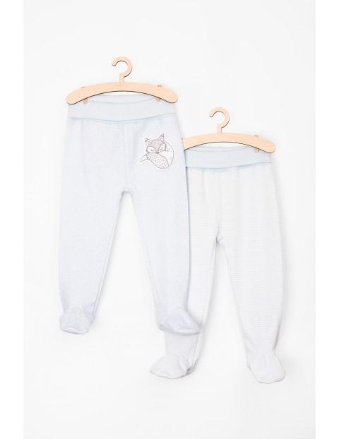 Półśpiochy niemowlęce bawełniane niebieskie- dwupak