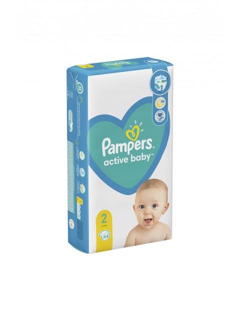 Pampers Active Baby, rozmiar2, 64pieluszki, 4-8kg