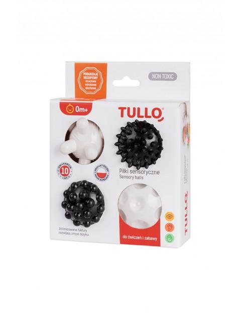 Piłki sensoryczne czarno-białe 4szt