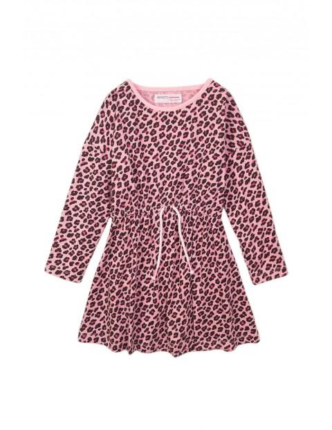 Sukienka niemowlęca różowa w panterkę