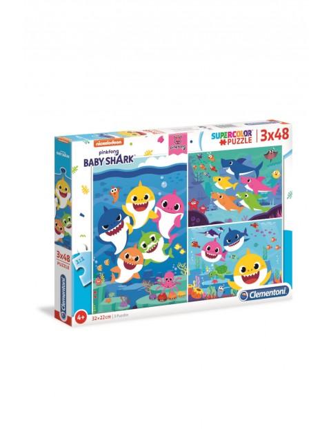 Puzzle Baby Shark 3 x 48 el wiek 4+