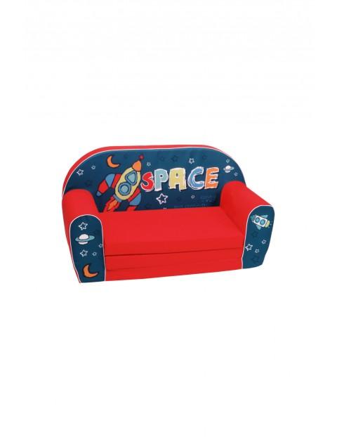 Rozkładana piankowa sofa dla chłopca Delsit Space