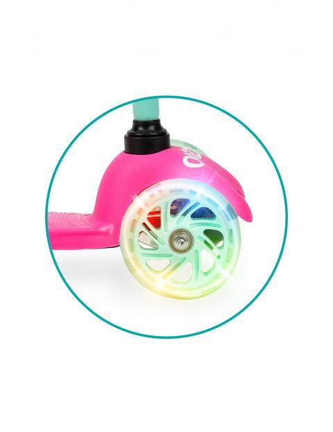 QKIDS LUMIS - 3kołowa różowa ze światełkami LED wiek 3+