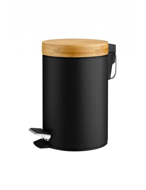 Kosz łazienkowy czarny 3L