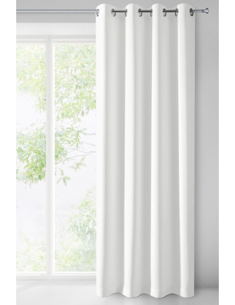 Zasłona zaciemniajaca jednokolorowa - biała - 135x250cm