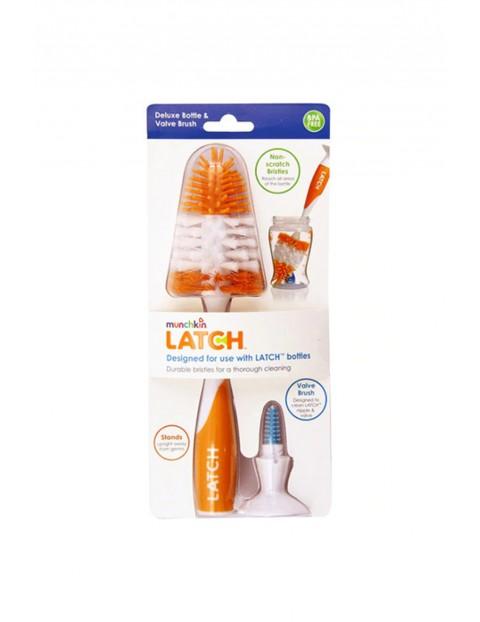 Szczotka do butelek i smoczków silikonowa z antypoślizgowym uchwytem Munchkin