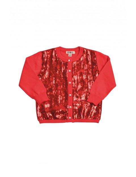 Sweterek dla dziewczynki czerwony