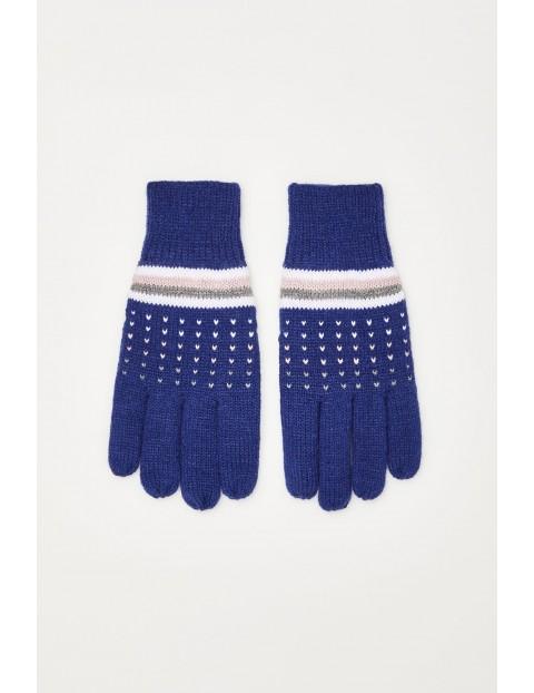 Rękawiczki z ociepleniem - niebieskie