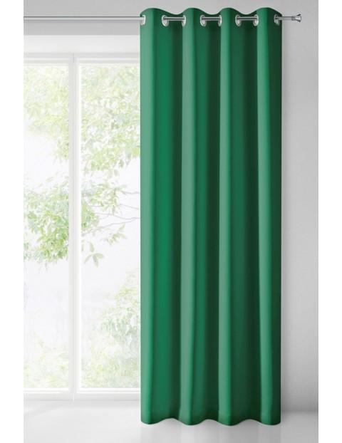 Zasłona jednokolorowa - zielona - 135x250cm