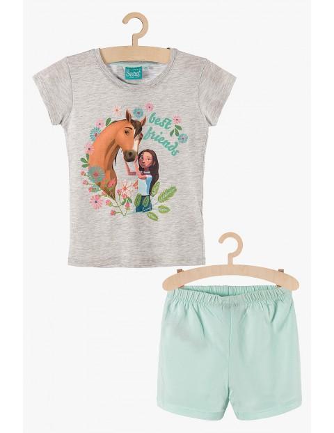 Pidżama dziewczęca Spirit szaro-miętowa