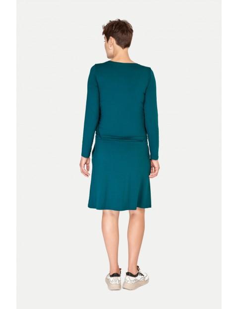 Sukienka ciążowa i do karmienia SIMPLE zielona