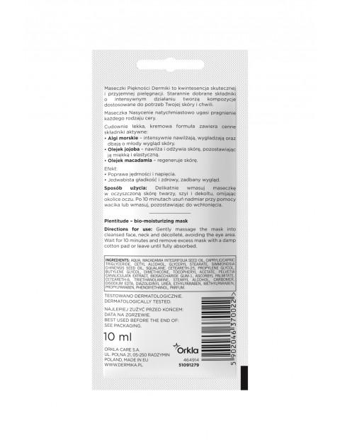 DERMIKA MASECZKA bionawilżająca Saszetka Nasycenie - 10 ml