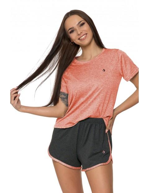 T-shirt damski FITNESS brzoskwiniowy