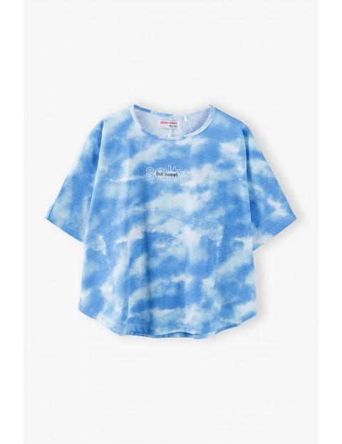 T- shirt dziewczęcy - niebieski