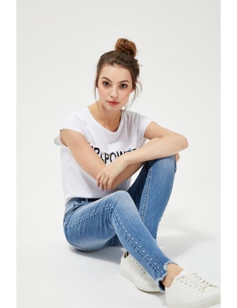 Jeansy skinny z osobnymi dżetami - niebieskie