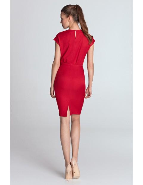 Sukienka damska czerwona ołówkowa