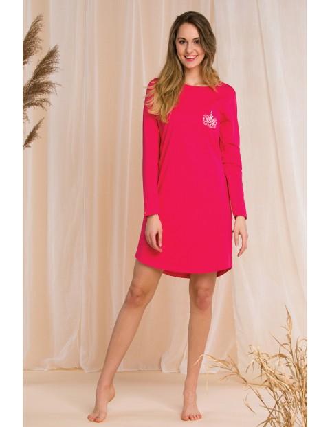Koszula nocna damska - różowa