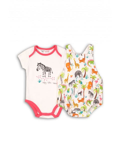 Body niemowlęce Safari- 2pak