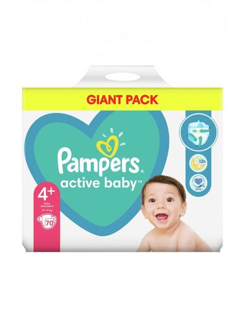 Pampers Active Baby, rozmiar4+, 70pieluszek, 10-15kg