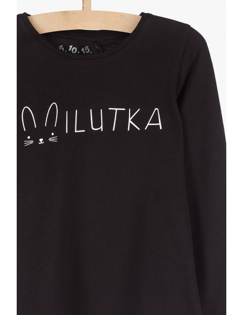 Czarna bluzka z napisem Milutka