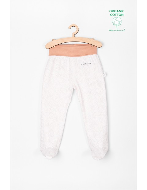 Półśpiochy niemowlęce białe z bawełny organicznej