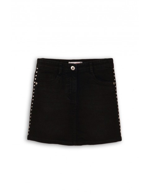 Spódnica dziecięca czarna jeansowa