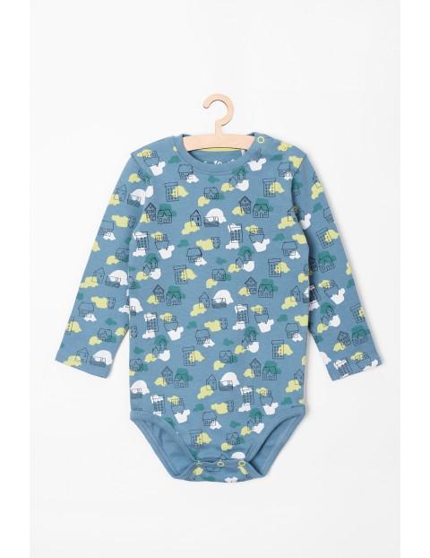 Body niemowlęce we wzorki- długi rękaw
