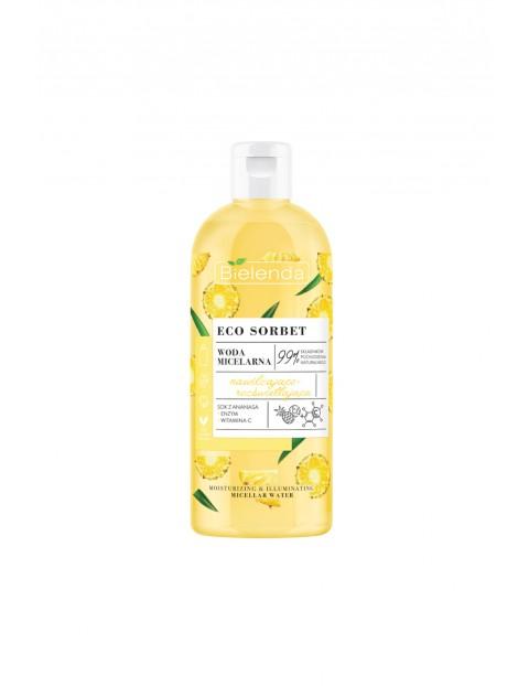 ECO SORBET Ananas - woda micelarna - nawilżająco-rozświetlająca 500 ml