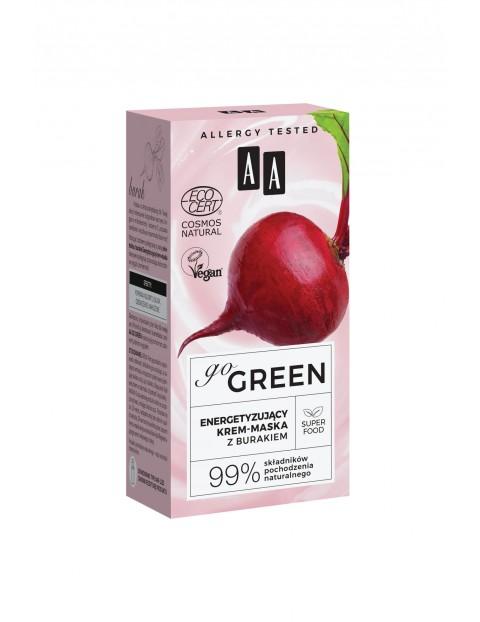 AA Go Green energetyzujący krem-maska z burakiem NATURAL 50 ml
