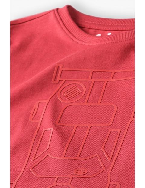 Bluzka chłopięca czerwona z długim rękawem