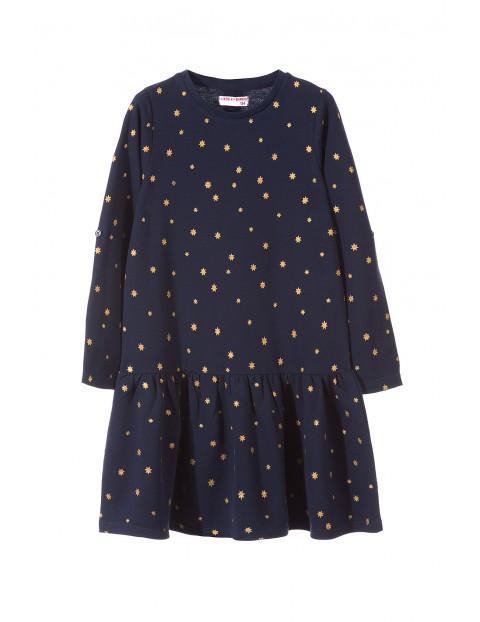 Sukienka dziewczęca dzianinowa 4K3307