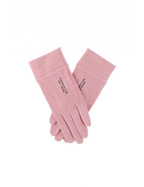 Rękawiczki damskie - różowe
