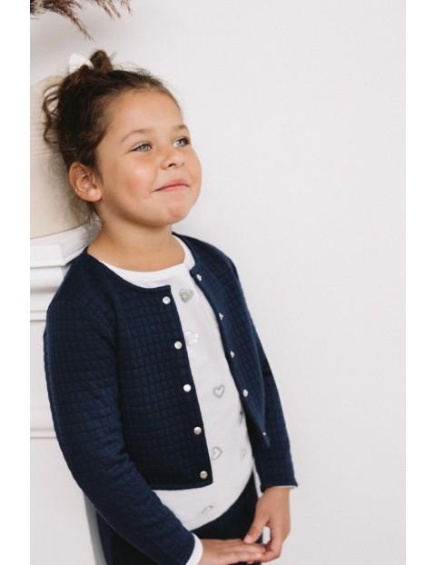 Żakiet dla dziewczynki- granatowy pikowany