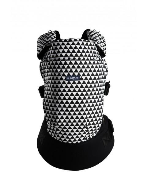Nosidełko Zaffiro CARE trójkąty biało czarne 6-18kg