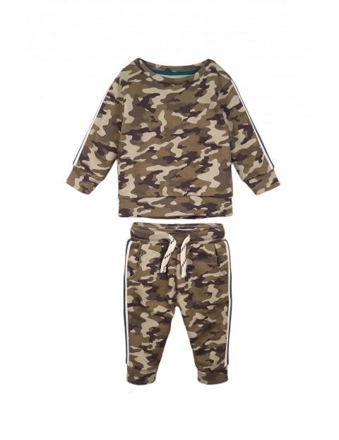 Komplet niemowlęcy bluza i spodnie - moro