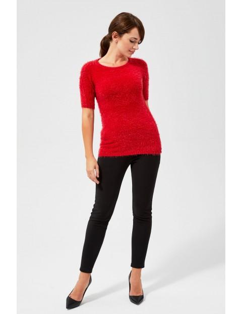 Sweter typu Miś z krótkimi rękawami - czerwony