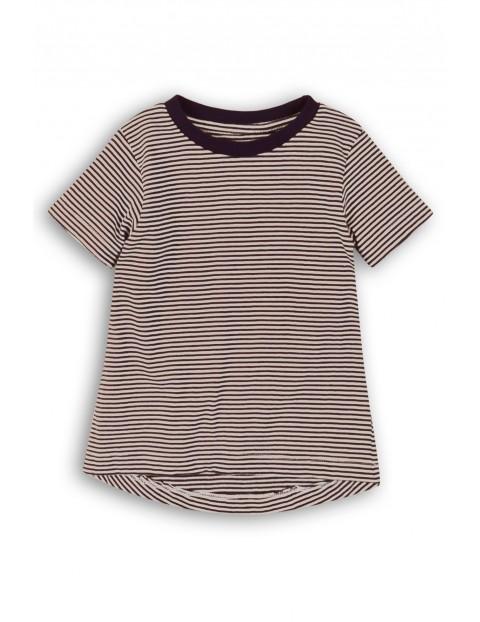 T-shirt dziewczęcy w czarno-białe paski