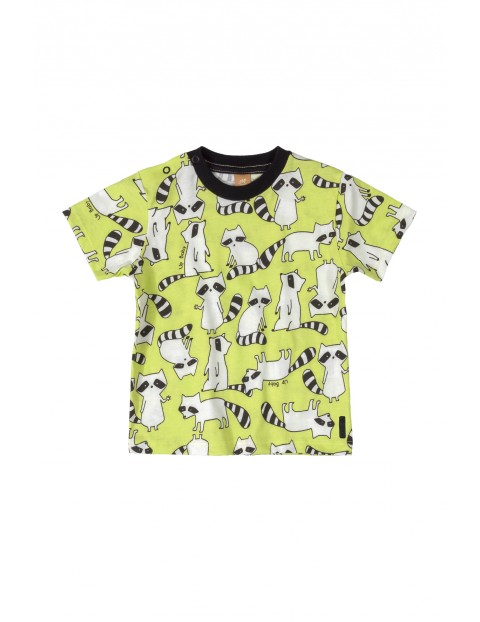 Koszulka dziecięca w szopy - żółta