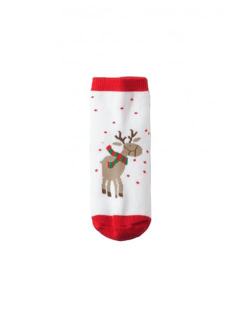Skarpety świąteczne- renifery