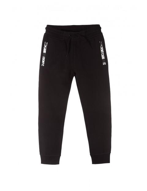 Spodnie dresowe czarne dla chłopca