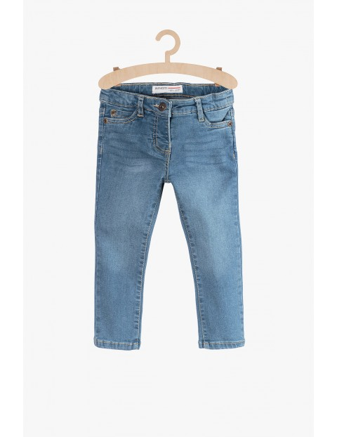 Niebieskie spodnie jeansowe dla dziewczynki rozm 92/98