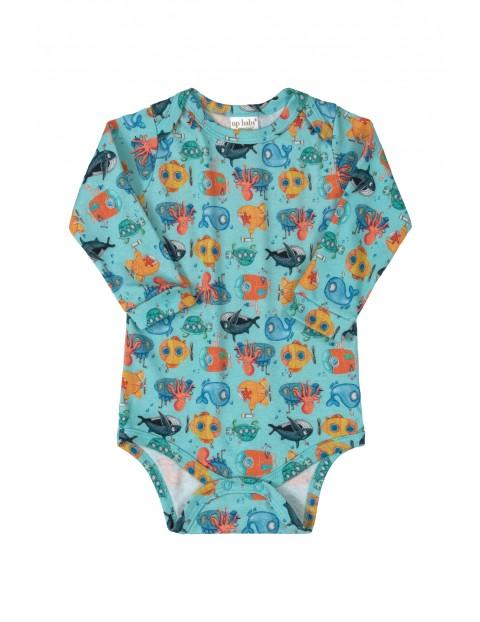 Body niemowlęce - podwodny świat- 100% bawełna