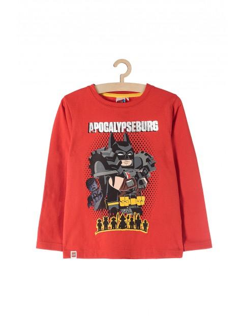 Bluzka chłopięca czerwona Lego Batman
